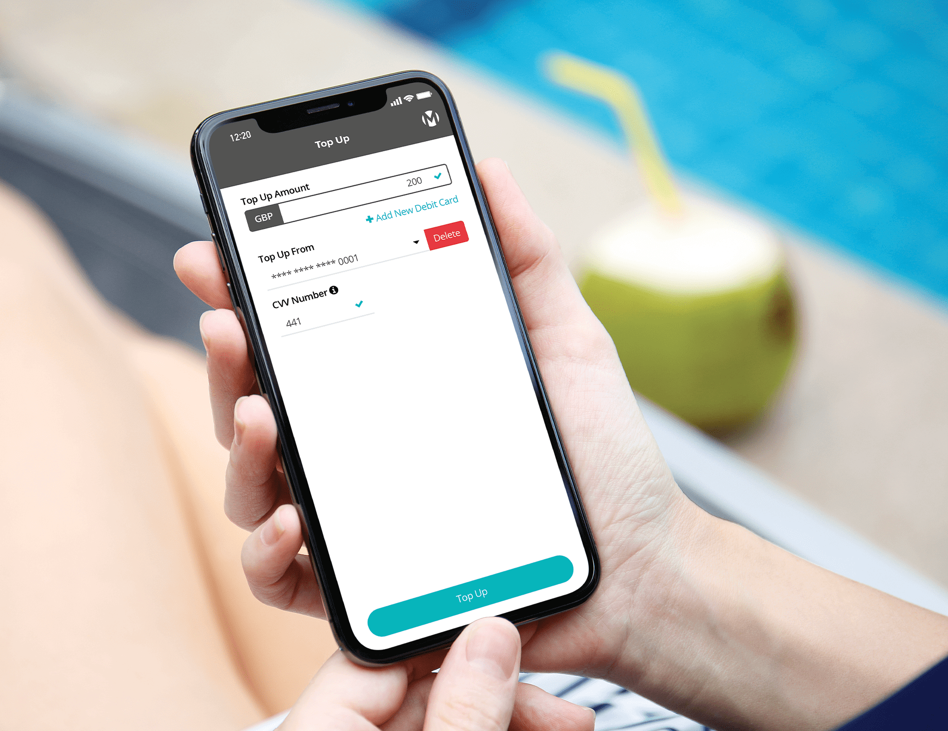 volopa app being used